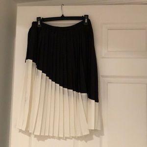 Pleated silk type skirt NWOT
